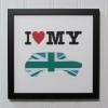 I Love My Mini Green & Blue Union Jack