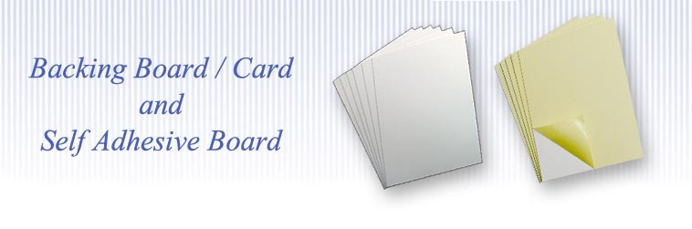 Backing card