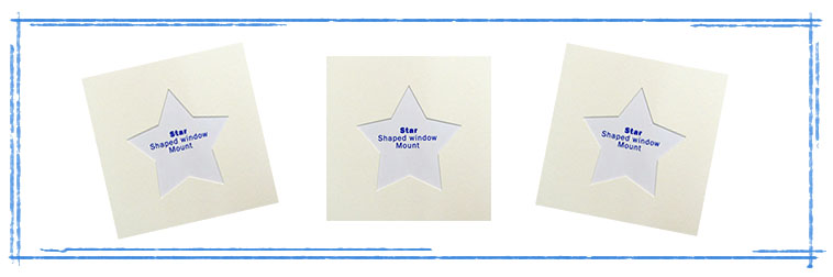 Star Shaped Photo Mounts
