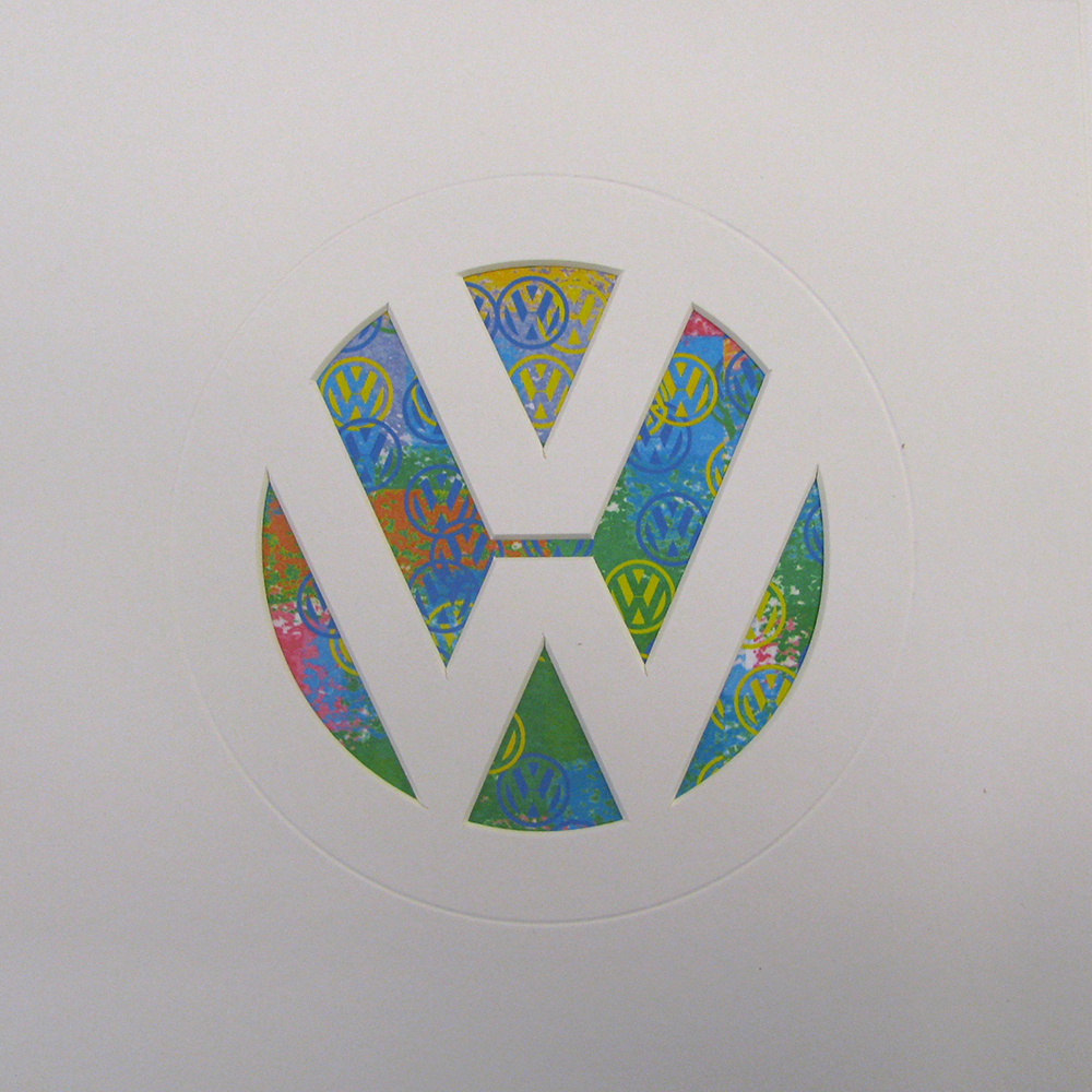 White VW Logo paper