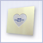Heart Shaped Photo & Picture Mounts