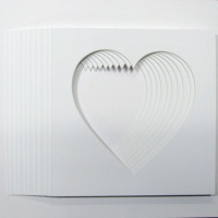 Pack of 5 Heart Shaped Photo Mounts 17x17cm to Fit IKEA 23cm x 23cm frames
