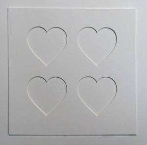 8x8 Single Heart Shaped Mount 4x 65x65