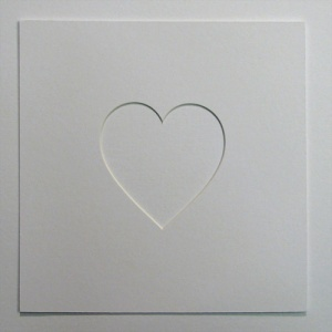 23x23cm Single Heart Shaped Mount 4x4