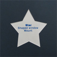 8x8 Star Shaped Mount in Blue