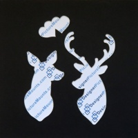 Deer Couple Heart Cut Out Mount