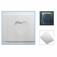 Econ Pack of 5 Heart  mounts, Backing & Bag 23x23cm