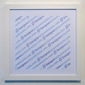 10x10 white frame