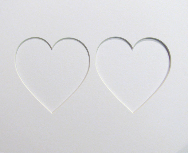 10x8 Pair Heart Shaped Mount