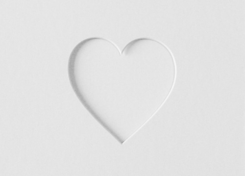 8x10 Single Heart Shaped Mount