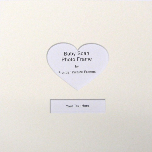 23x23 Heart Shape Baby Scan Mount