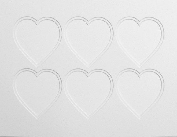 40x30x6 Double Heart Shaped Mount