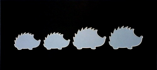 Hedgehog  Family Shape Mount