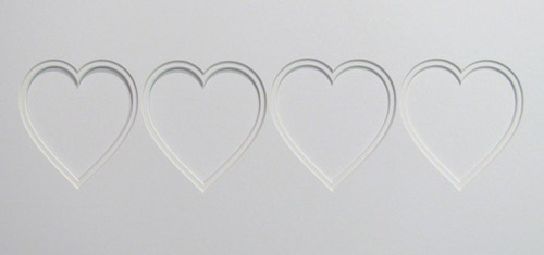 50x23x4Double Heart Shaped Mount