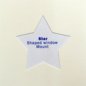 8x8 Star Shaped Mount White