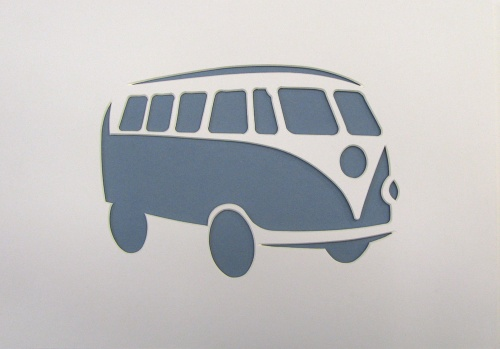 A4 VW Split Screen Bus 'Splitty' shape mount