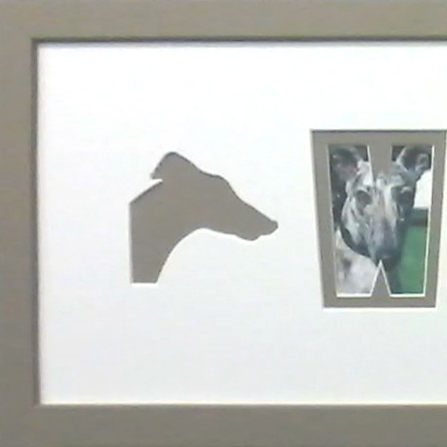 Brindle Greyhound Name picture frame