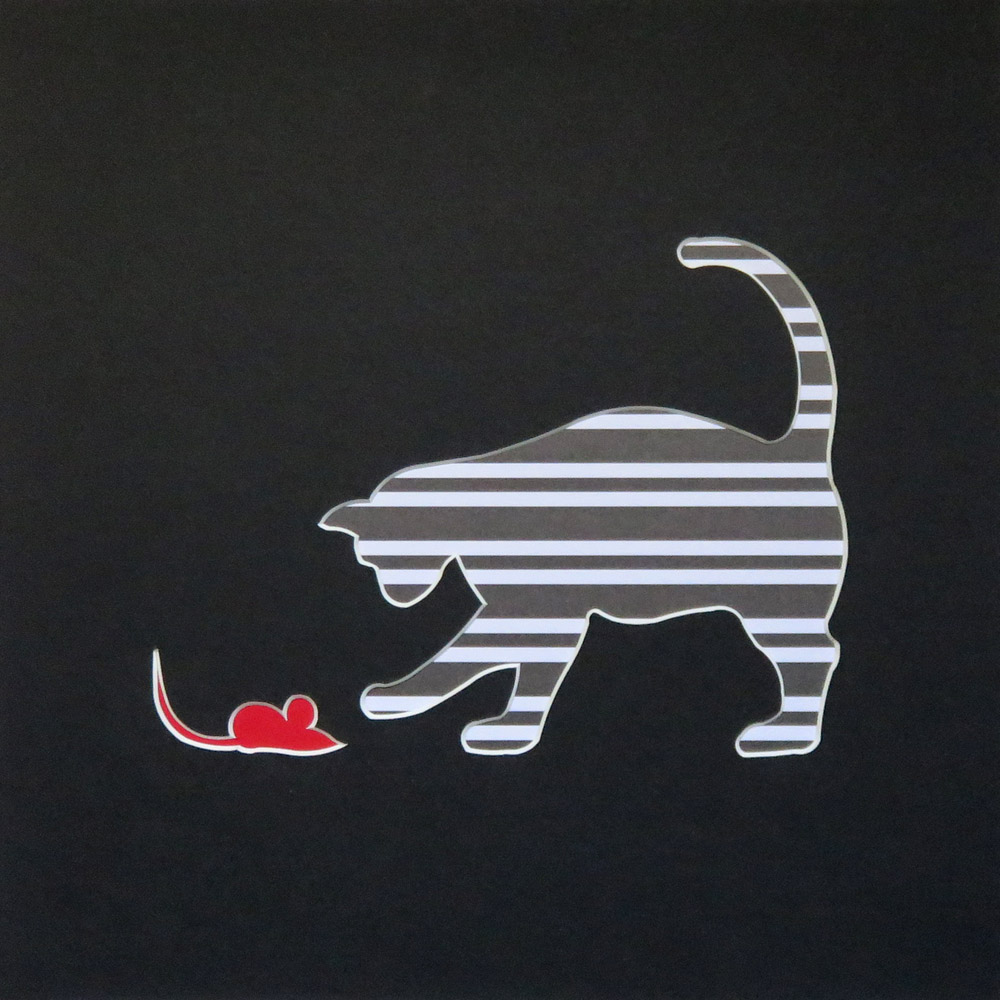 cat and mouse original cut out art