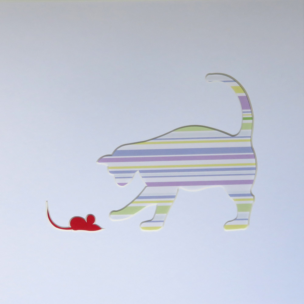 cat and mouse cut out art