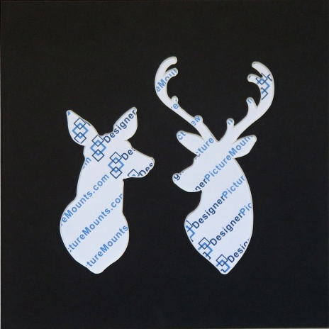 Deer Couple Cut Out Mount