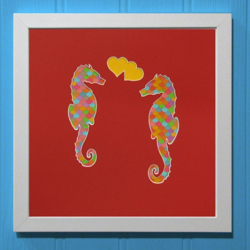 Love SeaHorses Red