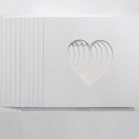 Pack of 12 Heart Shaped Photo Mounts 5''x5''to Fit IKEA 25cm x 25cm frames